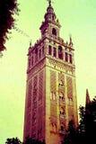 DE TOREN VAN LA GIRALDA IN SEVILLA, SPANJE * APRIL, 1966 Royalty-vrije Stock Fotografie