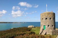 De Toren van Martello, Baai LâAncresse, Royalty-vrije Stock Foto's