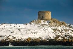 De toren van Martello Dalkeyeiland dublin ierland stock foto's