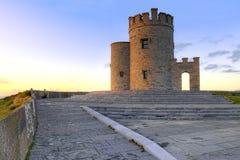 De toren van OBriens op Ierse Klippen van Moher in Ierland. Royalty-vrije Stock Afbeeldingen