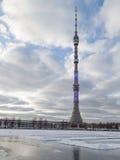 De toren van Ostankino in Moskou Stock Afbeelding