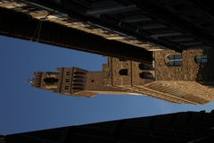 De toren van Palazzo Vecchio, Florence, Italië Stock Afbeelding