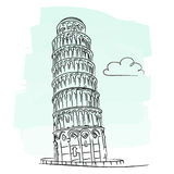 De toren van Pisa Stock Fotografie