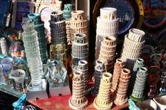 De toren van Pisa, herinneringen Stock Foto