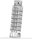 De Toren van Piza Stock Afbeeldingen