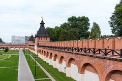 De Toren van de Poorten van Ivanovo en de Toren van Ivanovo, de torens van Tula Kremlin Tula, Rusland royalty-vrije stock foto's