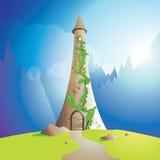 De toren van Rapunzel Stock Foto