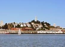 De Toren van San Francisco Coit van de Baai stock foto