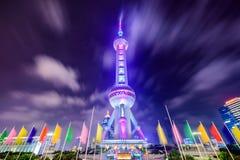 De Toren van Shanghai bij Nacht Royalty-vrije Stock Foto