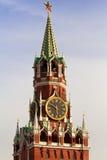 De toren van Spaskaya van Moskou het Kremlin Stock Afbeeldingen