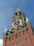 De Toren van Spasskaya, Moskou het Kremlin, Stock Foto's