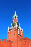 De Toren van Spasskaya in Moskou het Kremlin Royalty-vrije Stock Foto's