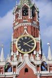 De Toren van Spasskaya van Moskou het Kremlin De Plaats van de Erfenis van de Wereld van Unesco stock afbeeldingen