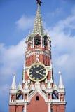 De Toren van Spasskaya van Moskou het Kremlin De Plaats van de Erfenis van de Wereld van Unesco royalty-vrije stock afbeelding