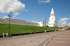 De Toren van Spasskaya van Kazan het Kremlin, Rusland Royalty-vrije Stock Afbeeldingen