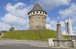 De toren van Tanguy in Brest, Bretagne, Frankrijk Stock Foto