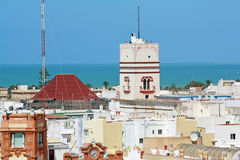 De Toren van Tavira, Cadiz Stock Foto