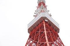 De toren van Tokyo in bewolkte dag Royalty-vrije Stock Foto's