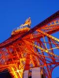 De Toren van Tokyo bij nacht Royalty-vrije Stock Foto
