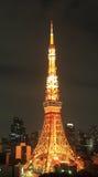 De toren van Tokyo bij nacht Stock Afbeelding