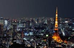 De toren van Tokyo bij nacht Stock Fotografie