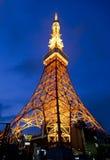 De toren van Tokyo bij nigh in Tokyo, Japan Royalty-vrije Stock Fotografie
