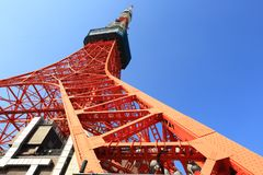 De Toren van Tokyo, Communicatie toren in Tokyo, Japan stock fotografie