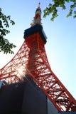 De Toren van Tokyo, Communicatie toren in Tokyo, Japan royalty-vrije stock afbeelding