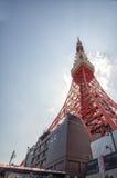 De Toren van Tokyo in Japan Stock Afbeelding