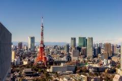 De Toren van Tokyo in de loop van de dag stock foto's
