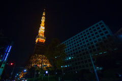 De Toren van Tokyo onder onderhoud Royalty-vrije Stock Foto's