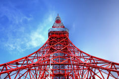 De toren van Tokyo op HDR Stock Fotografie