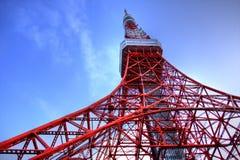 De toren van Tokyo op HDR Stock Foto's