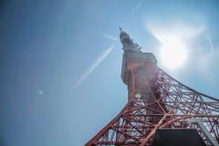 De Toren van Tokyo | Reis in Japan op 30 Maart, 2017 Royalty-vrije Stock Foto