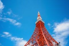 De Toren van Tokyo in Tokyo stock afbeelding