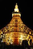 De toren van Toyko bij nacht Stock Afbeelding