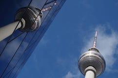 De toren van TV in Berlijn Stock Afbeelding