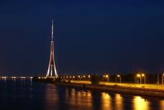De toren van TV van Riga. Stock Fotografie