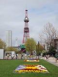 De Toren van TV van Sapporo/Park Odori royalty-vrije stock afbeelding