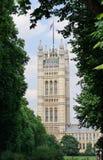 De Toren van Victoria, Huizen van het Parlement in Londen, het UK Royalty-vrije Stock Afbeeldingen