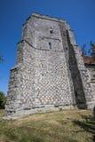 De toren van de vuursteensteen van oude St Mary ` s Kerk Pevensey royalty-vrije stock fotografie