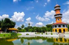 De Toren van Withunthasasa (Ho), Ayuthaya, Thailand Stock Foto