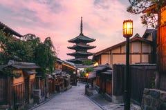 De toren van Yasaka ook als Tempel Hokan -hokan-ji of Yasaka-Pagode wordt bekend is één van de meest bezochte plaatsen in Kyoto,  royalty-vrije stock foto's