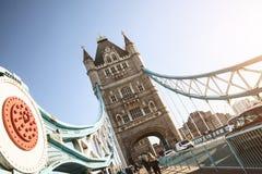 De de Torenbrug van Londen bij zonsopgang royalty-vrije stock foto