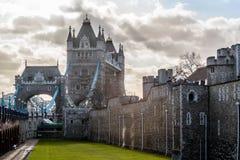 De Torenbrug van Londen, zonnig weer, Engeland Royalty-vrije Stock Foto