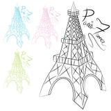 De Torenreeks van Eiffel Royalty-vrije Stock Foto