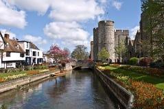 De Torens en de tuinen van Canterbury Westgate Stock Afbeeldingen