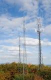 De torens van de cel op de berg Stock Foto's