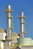 De Torens van de elektrische centrale Stock Fotografie