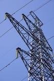 De torens van de hoogspanning Stock Fotografie